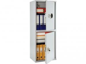 Шкаф металлический бухгалтерский ПРАКТИК SL-125/2Т EL купить на выгодных условиях в Красноярске