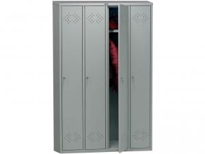 Шкаф металлический для одежды ПРАКТИК LS(LE)-41 купить на выгодных условиях в Красноярске