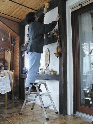 Лестница стремянка двухсторонняя Dopplo 3 ступени купить на выгодных условиях в Красноярске