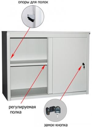 Шкаф-купе металлический ALS 8896 купить на выгодных условиях в Красноярске