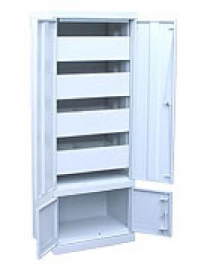 Шкаф металлический картотечный ШК-4-Д4 купить на выгодных условиях в Красноярске
