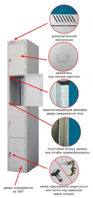 Шкаф металлический для сумок ШРС-14-300 купить на выгодных условиях в Красноярске
