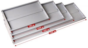 Полка 100/40 для металлического стеллажа купить на выгодных условиях в Красноярске