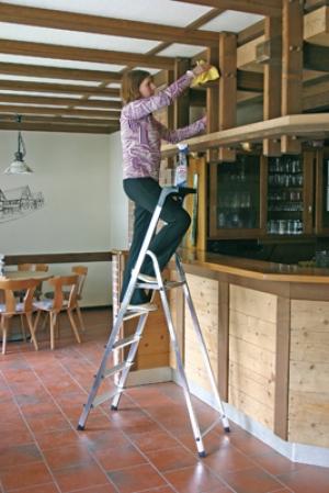 Лестница стремянка Safety 5 ступеней купить на выгодных условиях в Красноярске
