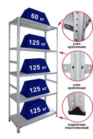Стеллаж металлический сборный 245-2.0 купить на выгодных условиях в Красноярске