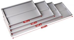 Полка усиленная 100\60 для металлического стеллажа купить на выгодных условиях в Красноярске